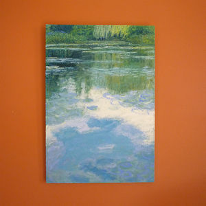 'Water Lilies' Oil Painting - paintings & canvases