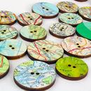 Pack Of Ten Map Craft Supply Buttons