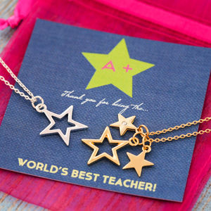 Teachers Thank You Star Necklace - jewellery sale
