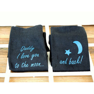 Love You To The Moon Personalised Socks - underwear & socks
