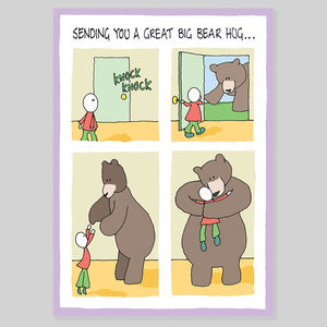 Bear Hug Greeting Card - sympathy & sorry cards