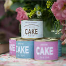 Personalised Wedding Cake In A Can