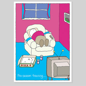 Pre-Season Training Greeting Card - funny cards