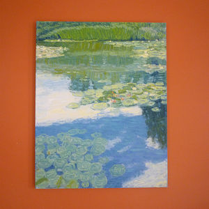 'Reeds And Water Lilies' Oil Painting - affordable art