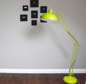 Lime Angled Floor Lamp - dining room