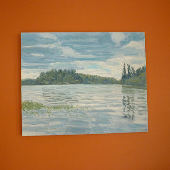 'Lake' Oil Painting