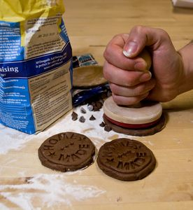 Homemade Cookie Stamp - children's cooking