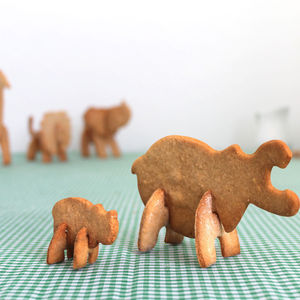 Bake Your Own 3D Safari Animal - cookie cutters