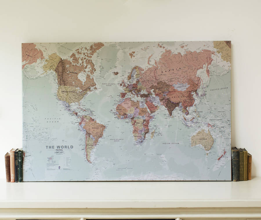 Executive World Map Canvas Print By Maps International