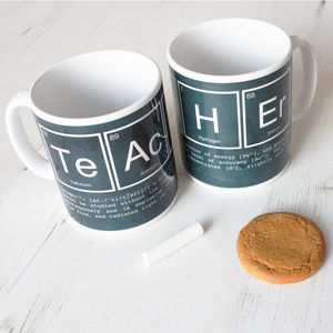 Elements Of A Teacher Chalkboard Mug - gifts for teachers