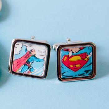 Comic Super Hero Cufflinks