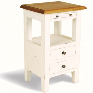 Brocante Aries Two Drawer Bedside Cabinet