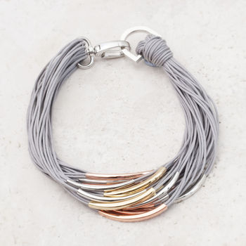Katrina Mixed Metal Thread Necklace