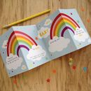 New Baby Rainbow Concertina Keepsake Card