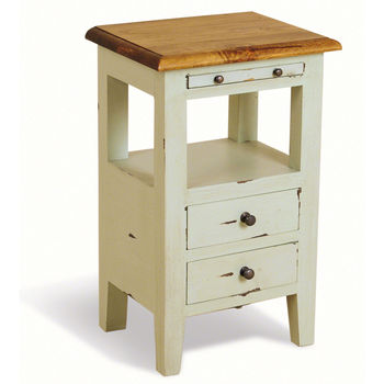 Brocante Aries Bedside Cabinet Two Drawer