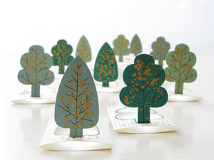 Tree Place Cards - winter wedding ideas