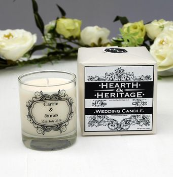 Personalised Scented Wedding Candle