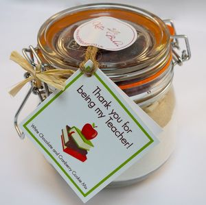 Teacher Thank You Cookie Mix Jar - make your own kits