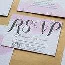 Blush Watercolour Wedding Invitations