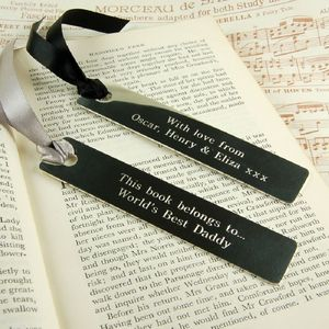 Personalised Bookmark - gifts for him sale