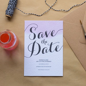 Blush Watercolour Save The Date