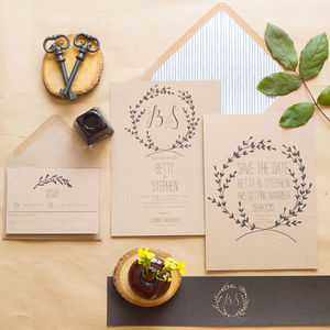 Whimsical Wedding Invitations - rustic wedding
