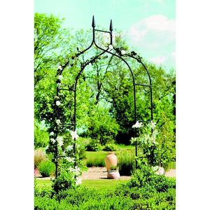 Gothic Metal Garden Arch - garden furniture