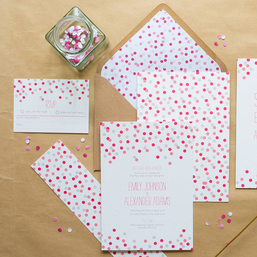 confetti wedding invitations by sincerely may | notonthehighstreet.com
