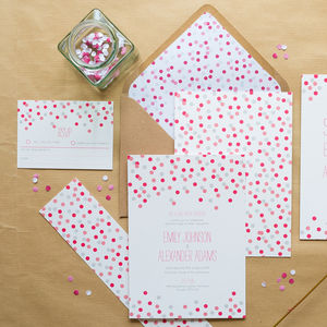 Confetti Wedding Invitations