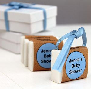 Personalised Baby Shower Soap Party Favours - baby shower