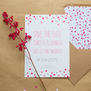 Confetti Save The Dates