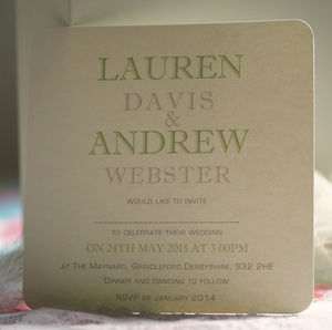 'We Do' Personalised Wedding Invitations