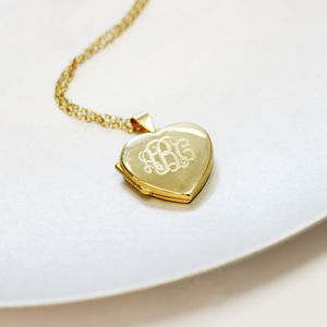 Personalised Monogram Locket Necklace