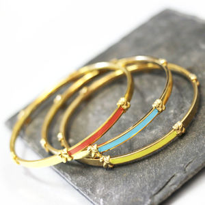 Coloured Knotted Bangles - bracelets & bangles
