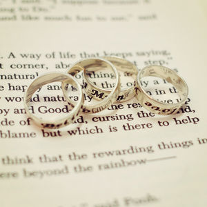 Personalised Sterling Silver Stackable Rings