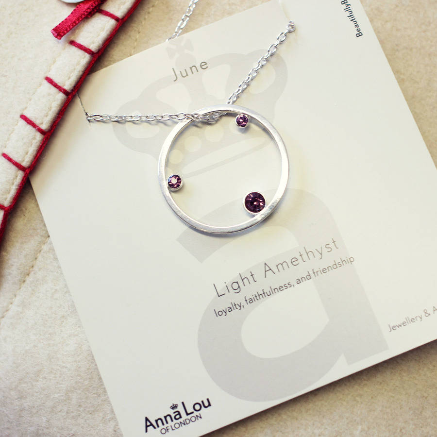 a1abfd16153ced birthstone necklace by anna lou of london | notonthehighstreet.com
