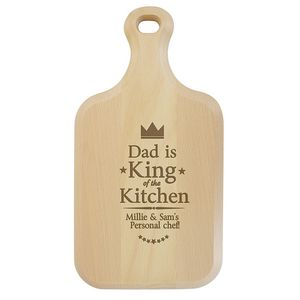 King Of The Kitchen Personalised Paddle Chopping Board