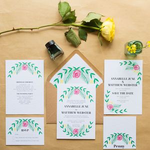 English Garden Wedding Invitations - invitations