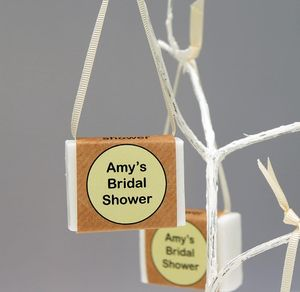 Personalised Bridal Shower Organic Soap Party Favours
