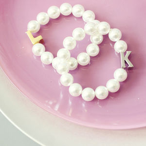 Personalised Pearl Initial Bracelet - jewellery for women