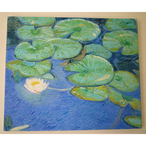 'Water Lily Pads' Oil Painting - affordable art