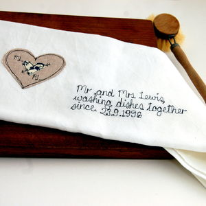 Personalised Mr And Mrs Tea Towel - shop by price