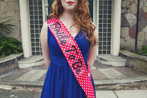 Rockabilly Polka Dot Hen Party Sash