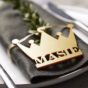 Crown Personalised Place Settings - table decorations