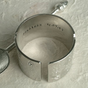 Personalised Christening Egg Cup And Spoon