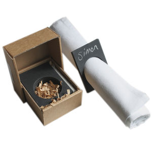 Eco Recycled Napkin Ring With Chalk - table decorations