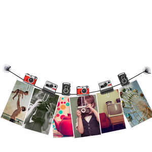 Pack Of Six Camera Clips - bunting & garlands