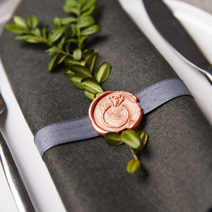 Wedding Ring Wax Seal Stamp - napkins & napkin holders