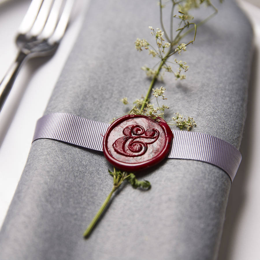 ampersand wax seal stamp by sophia victoria joy ...