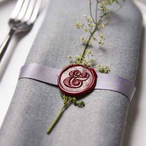 Ampersand Wax Seal Stamp - table decorations